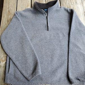 J Crew Quarter Zip Fleece Made in USA XL EUC